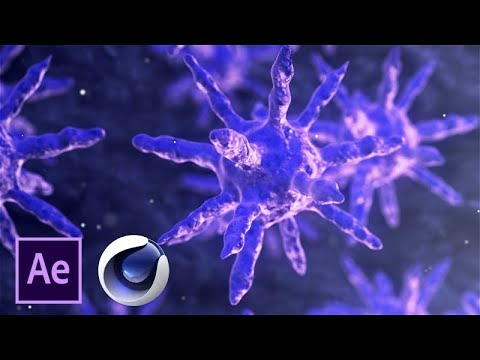 (SpeedArt) Organic Virus || Modelling - Compositing ||  Cinema 4D - After Effects - Element  3D