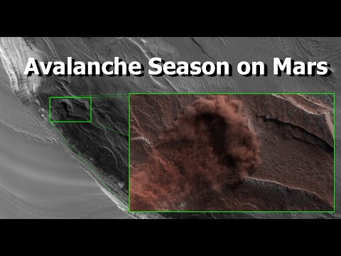 Watch A Martian Landslide Move Across The Surface of The Red Planet