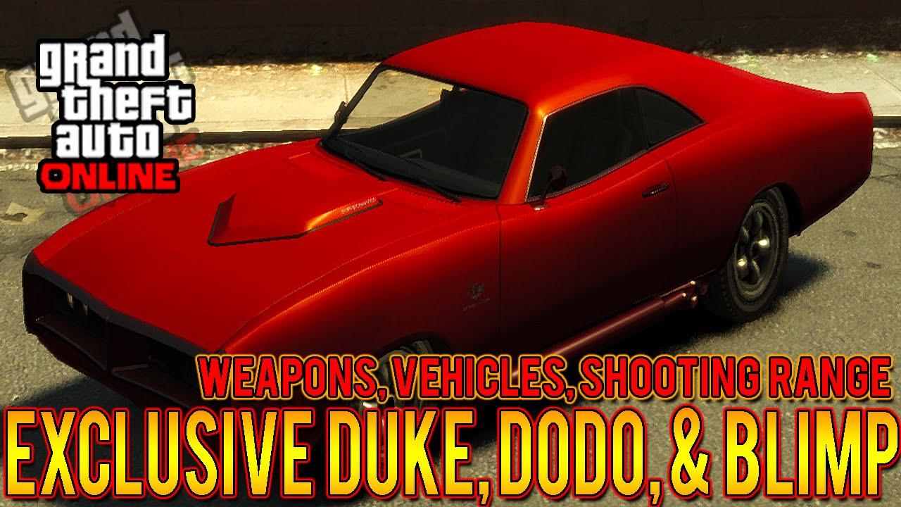 GTA 5 Exclusive DLC Car Dukes Dodo Blimp For Xbox 360 PS3