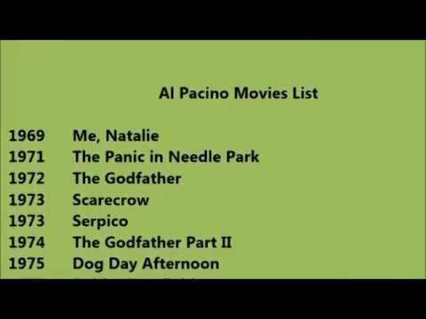 Al Pacino Movies List - YouTube Al Pacino Movies List