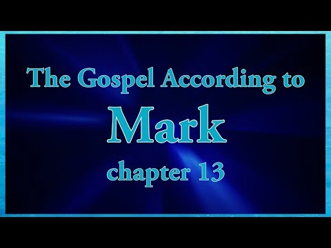 The Gospel According to Mark chapter 13 Bible Study