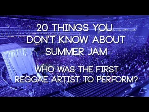 Who was the first reggae artist at Summer Jam?