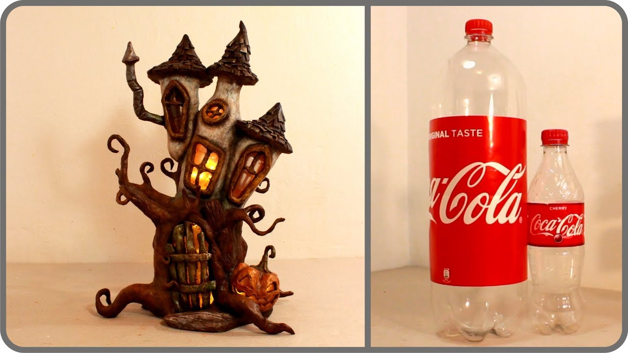 Diy Haunted Fairy House Lamp Using Coke Plastic Bottles