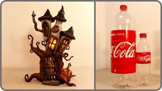 ❣DIY Haunted Fairy House Lamp Using Coke Plastic Bottles❣