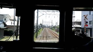 東武鉄道日光線新古河駅→南栗橋駅前面展望