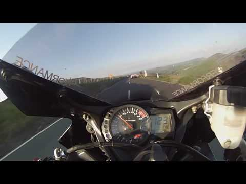 Isle Of Man Tt 2016 Mountain Run Suzuki 1000 K6 Chases Down McLAREN Supercar