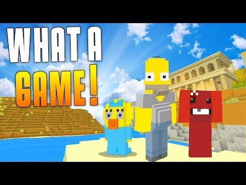 WHAT A GAME! (Minecraft Xbox One New Hunger Games Funny Moments) CoD References! - MatMicMar