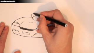 How to draw a car with rims