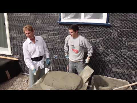 Teaching Beginners Plastering And Stucco Work
