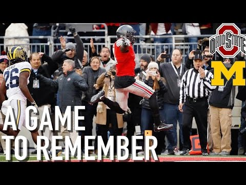 The Greatest Ohio State/Michigan Game EVER?! A Game to Remember