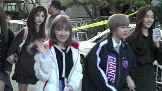 20181012 공원소녀 GWSN 뮤직뱅크 중간 퇴근