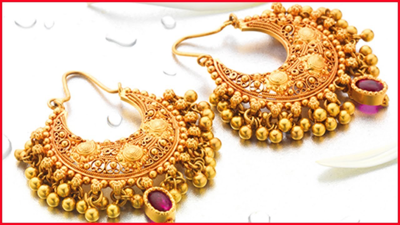 gold earring designs with weight and price youtube