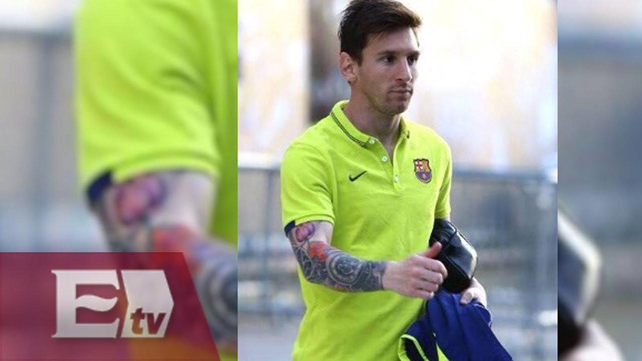 Los Tatuajes Del Brazo De Lionel Messi Rigoberto Plascencia Youtube