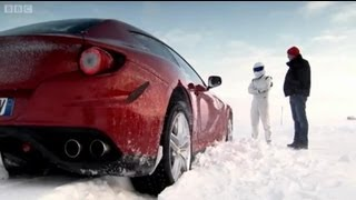 Ferrari FF Vs. Bentley Continental V8 on Ice! | Top Gear | Series 18 | BBC