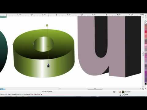 how to make 3d effect in corel youtube. Black Bedroom Furniture Sets. Home Design Ideas