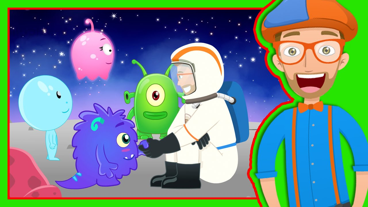 Story Time With Blippi Magical Moon Rock Video For