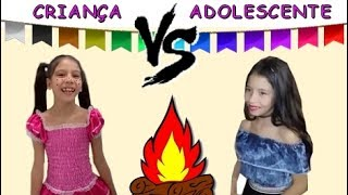 CRIANÇA VS ADOLESCENTE NA FESTA JUNINA