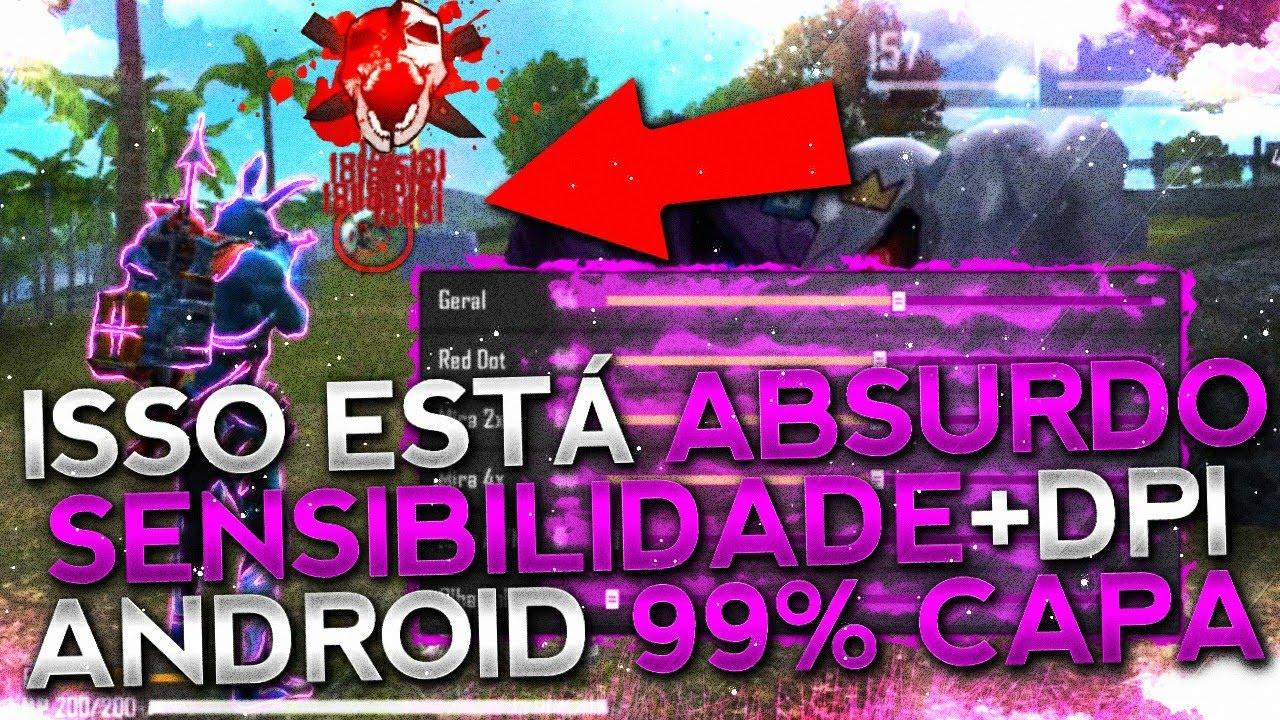 SAIU!! MELHOR SENSIBILIDADE PARA SUBIR 99% CAPA!! ESTILO HACKER!! TODOS OS ANDROID!! FREE FIRE