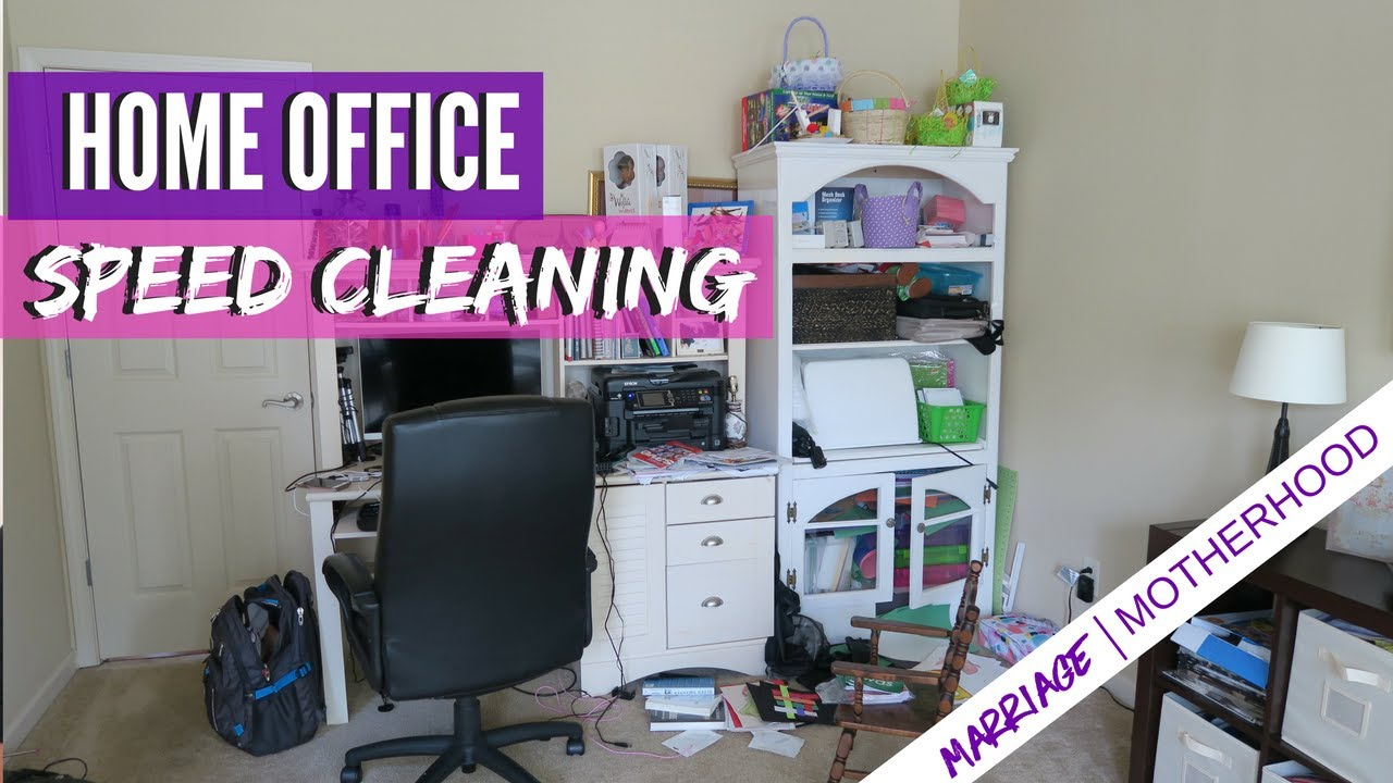 Home Office Cleaning | Speed Cleaning Routine | Power Hour