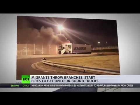 'We need army to ensure security': Migrants throw branches, start fire to get onto UK-bound trucks