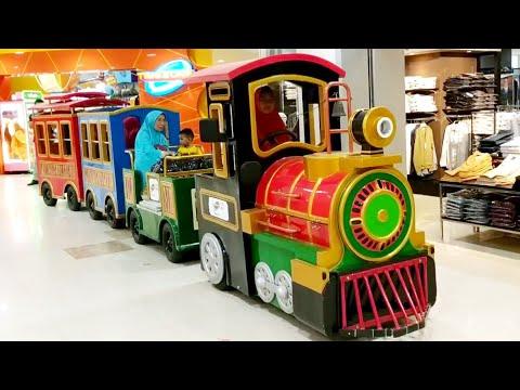 Naik Odong Odong Kereta Api Keliling Mall | Odong Odong Anak Kereta Api
