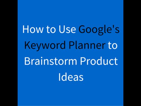 keyword planner amazon