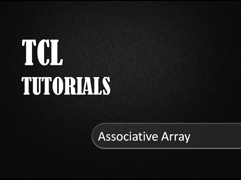 Associative Array In TCL Programming # TCL Tutorials