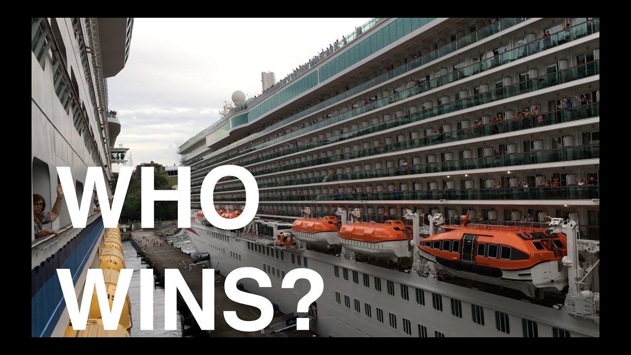 Best Cruise Ship Horn Battle Royal Caribbean Vs PO Cruises K - Best cruise ship songs