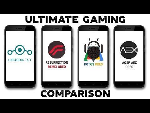 LineageOS 15.1 Vs Resurrection Remix Oreo Vs DotOS Vs AOSP AEX | Gaming Comparison | Best Gaming Rom