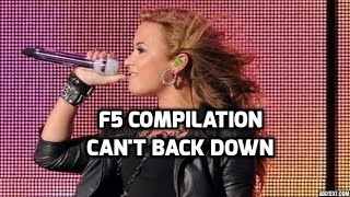 demi lovato f5 from can t back down compilation