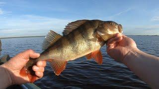 Рыбалка на озере с лодки в начале июня