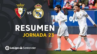 Resumen de CA Osasuna vs Real Madrid (1-4)