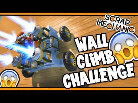 Scrap Mechanic! - WALL CLIMB CHALLENGE! Vs AshDubh - [#24]   Gameplay  