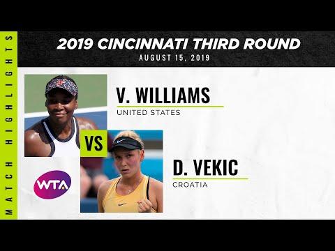 Venus Williams vs. Donna Vekic | 2019 Western \u0026 Southern Open Third Round | WTA Highlights