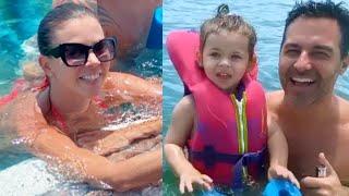 Ximena Duque y su familia disfrutan el domingo familiar en yate