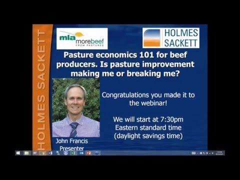 MBfP webinar | Pasture economics 101 for beef producers