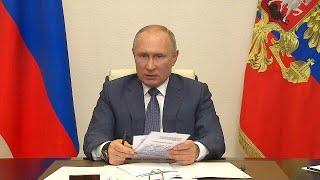 Путин поручил начать вакцинацию от COVID 19