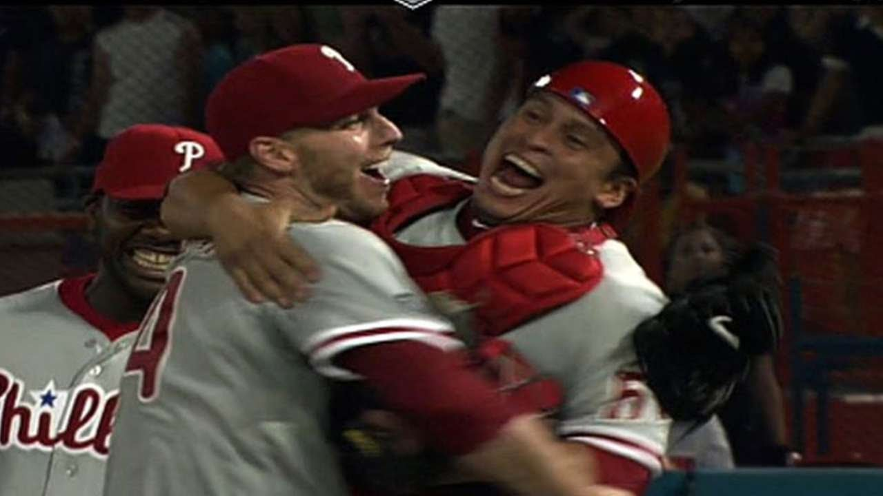 Looking back at Phillies' Roy Halladay's perfect game 10 years ago ...