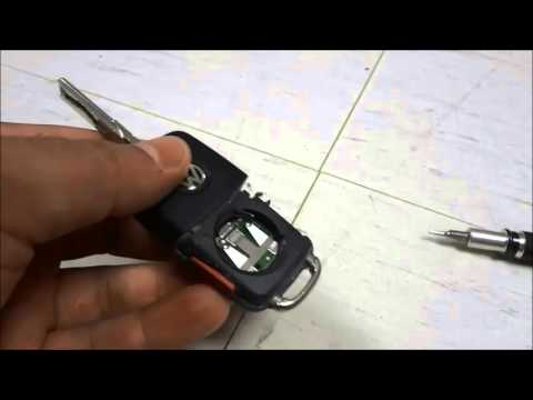 How To Change A Volkswagen Key Fob Battery (New Style Key Fob With Black And Silver Logo)