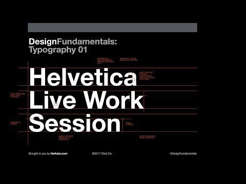 Helvetica Typography Crit & Live Work Session