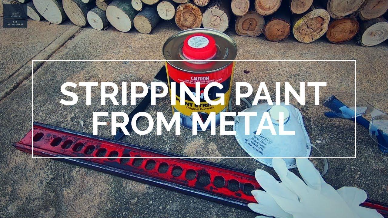 Strip paint of metal