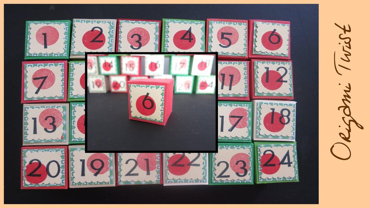 How to make an advent calendar doovi for Make your own chocolate advent calendar