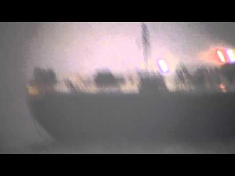 SHIP in TORNADO Atlantic Ocean RARE VIDEO!