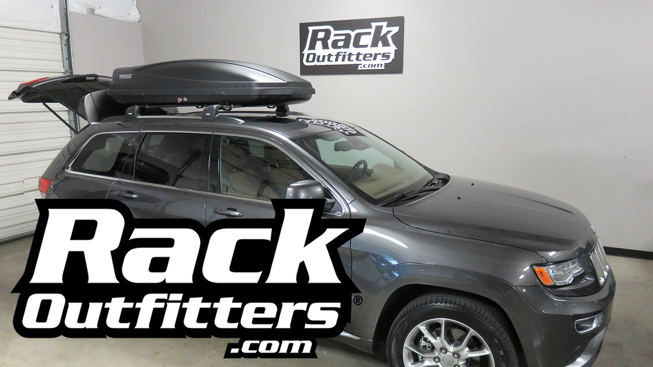 Jeep Grand Cherokee With Thule Force 628 Luggage Carrier Cargo Box From Rack  Outfitters