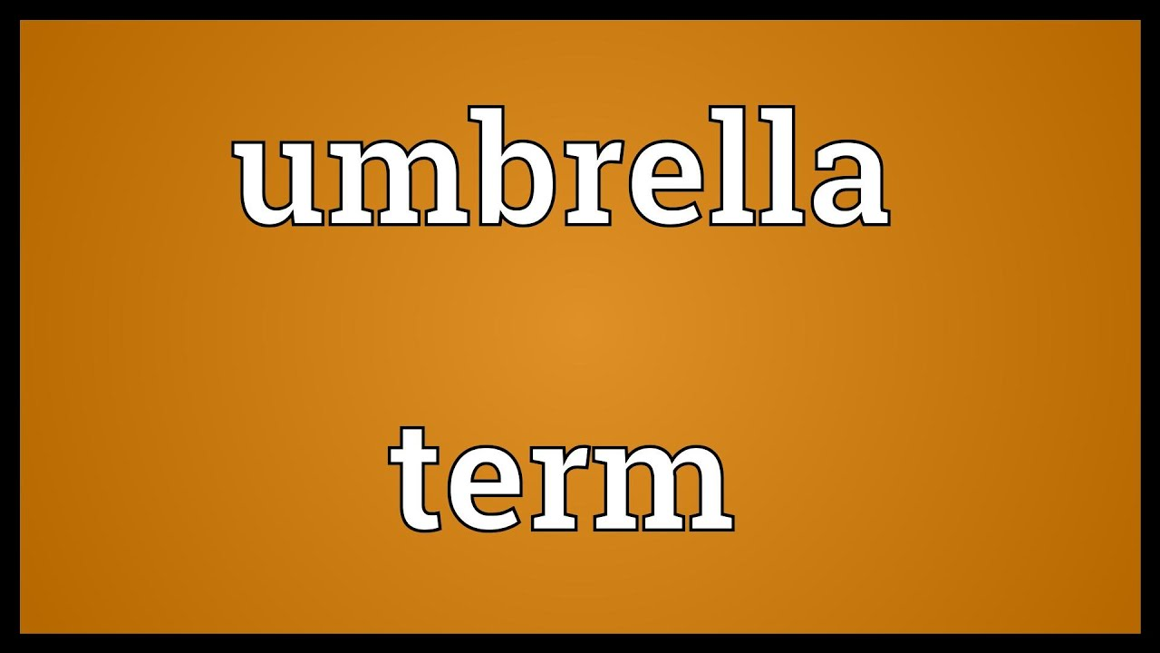 Umbrella term Meaning - YouTube
