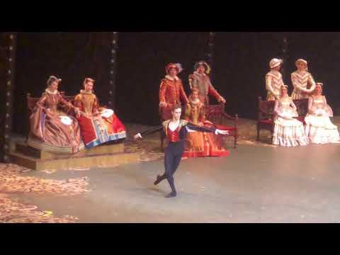 Давид Мотта Соарес и Анна Никулина в балете Дон Кихот ( фуэте)