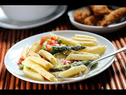 Pasta penne rigate con verduras - Receta fácil de preparar