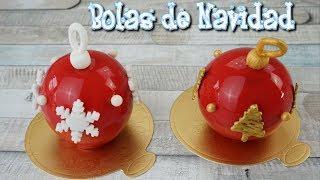 BOLAS DE NAVIDAD de chocolate / Glaseado espejo / El Rincón de Belén