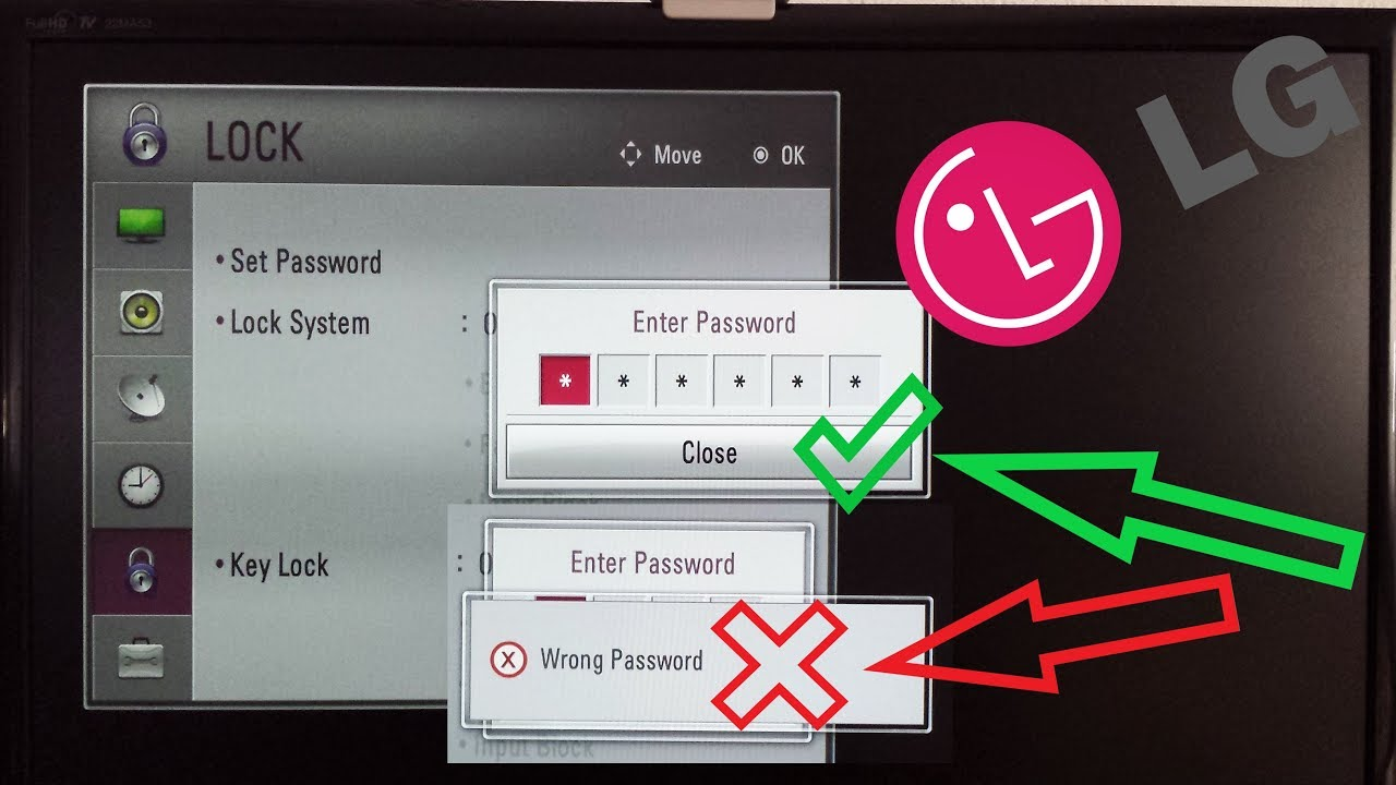 LG TV RESET PASSWORD LOCK / Lock PIN Reset codes