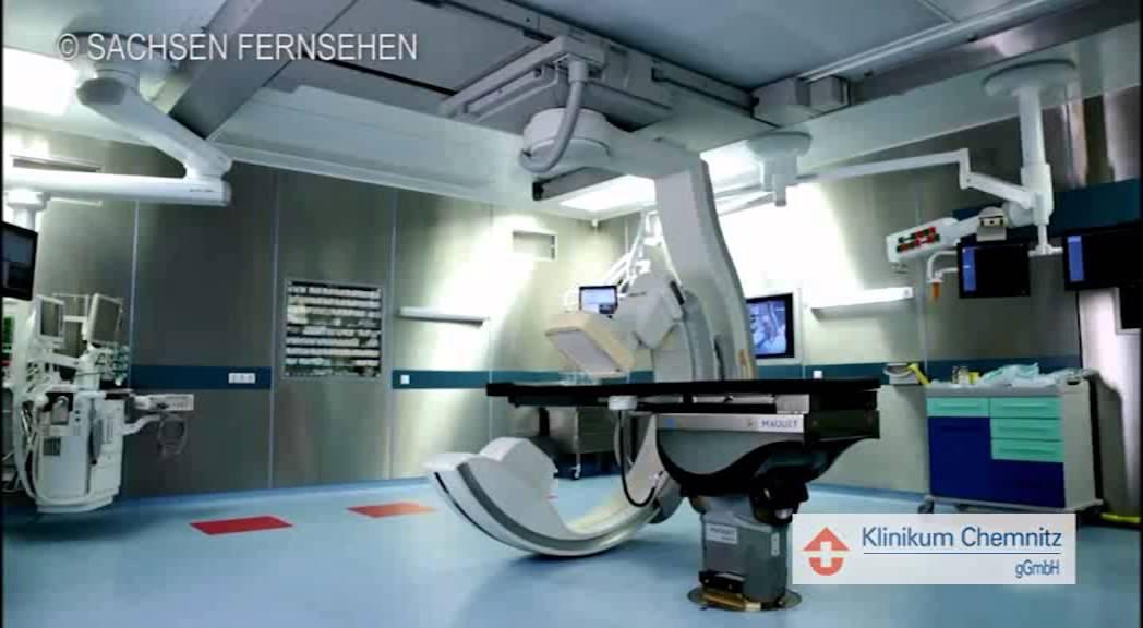 Hochmoderner Hybrid-Operationssaal der Klinik für Thorax-, Gefäß ...